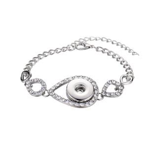 1 кнопка оснастки серебристого металла браслет подходит оснастки ювелирные изделия