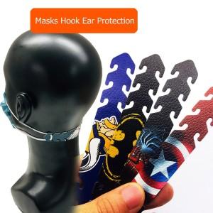 MOQ50 Protecteur d'oreille, anti-mal d'oreille, masque d'oreille, crochet de boucle, masque de gel de silice, ceinture de corde, boucle de réglage élastique, boucle d'extension