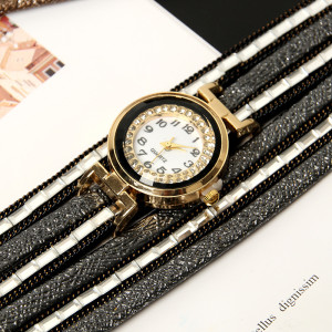 New Bohemian style multilayer Pu boutique Watch Bracelet
