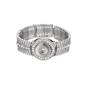 1 buttons snap silvery metal bracelet fit snaps jewelry