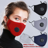 MOQ10 Face mask Dust and haze prevention with breathing valve protective mask PM2.5 cotton mask washable