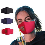 MOQ10 Adjustable and pluggable straw stereo dust-proof adult cloth face mask