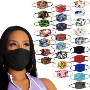 MOQ10 Máscara de doble capa impresa lavable, transpirable, a prueba de polvo y UV para hombres y mujeres