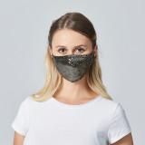 Masque solaire à paillettes avec insert filtrant PM2.5 masques colorés respirants pour hommes et femmes