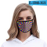 Livraison dans les 7 jours Tie Dye masque facial anti-poussière tissu de soie de glace imprimé à la mode lavable