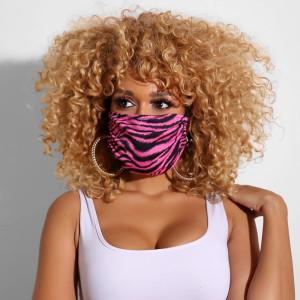 男性と女性のための印刷された洗える、通気性、防塵、UV耐性の二重層マスク