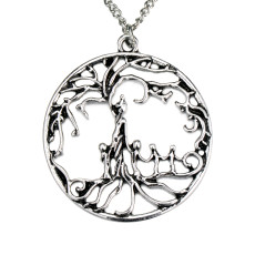 Family tree Life tree alloy necklace mother and 4 children