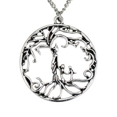 Family tree Life tree alloy necklace mother and 2 children
