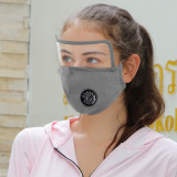 MOQ10 Adult eye protection lens mask pure cotton protective mask replaceable filter respirator face mask
