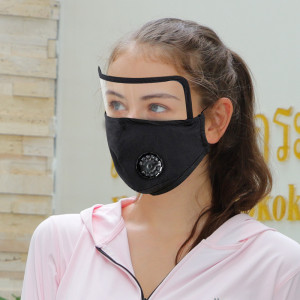 Adult eye protection lens mask pure cotton protective mask replaceable filter respirator face mask