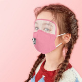 MOQ10 Children eye protection lens mask pure cotton protective mask replaceable filter respirator face mask