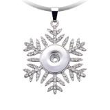 Collier de flocons de neige de Noël 52cm chaîne de ligne noire fit 20MM morceaux de bijoux