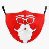 MOQ10 Christmas 3D digital printing protective mask can put PM2.5 filter adult  face mask