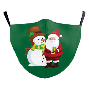 MOQ10クリスマス3Dデジタル印刷保護マスクはPM2.5フィルター大人のフェイスマスクを置くことができます