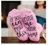 Если вы можете носок PINK Терри торт носок подошвы клей