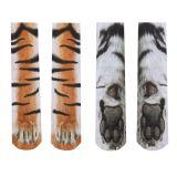 3D печать животных ноги и ступни носки взрослые унисекс взрослые взрослые унисекс взрослые животные носки носки животные носки кошачьи носки собачьи носки