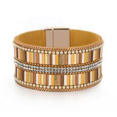 Leather buckle diamond bracelet Bohemian women's Bracelet