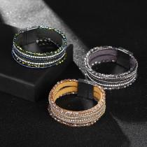 Multi layer crystal bracelet with rhinestone and Handmade Beaded Bracelet