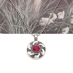 20MM round design snap silver Plated and rose rhinestone