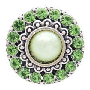 20MM круглый дизайн посеребренная и зеленая жемчужина