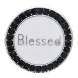 20 мм благословенная круглая дизайнерская оснастка посеребренная и белая эмаль