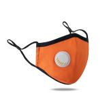 MOQ10 Masque anti-poussière, respirant et lavable, masque facial à boucle d'oreille réglable avec valve respiratoire
