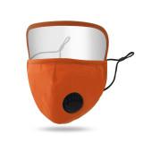 MOQ10 Masque anti-poussière, respirant et lavable, masque facial à boucle d'oreille réglable avec valve respiratoire et lunettes