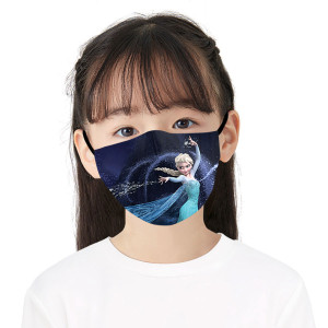 MOQ50 New customized design Children 3D digital printing protective mask can put PM2.5 filter Children  face mask