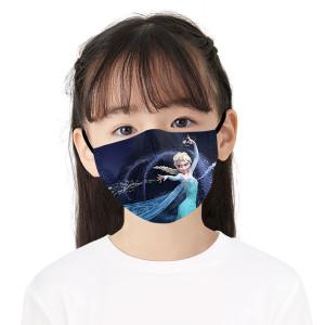 MOQ50新しいカスタマイズされたデザイン子供用3Dデジタル印刷保護マスクはPM2.5フィルターを置くことができます子供用フェイスマスク