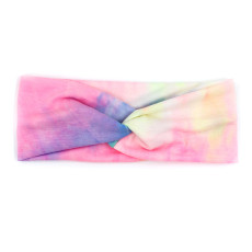 Tie dye sport headband wide brimmed headband fashion knot Yoga sweat absorbing Headband bandans