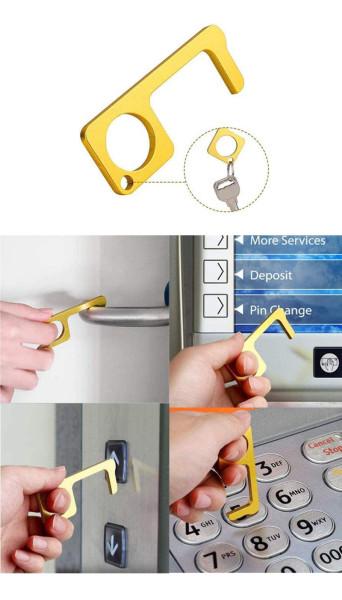 Брелок для предотвращения эпидемий, антибактериальная и вирусная защита, санитарный ключевой артефакт лифта, бесконтактный открыватель дверей EDC