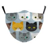 MOQ50 Nuevo diseño personalizado para niños La máscara protectora de impresión digital 3D puede poner filtro PM2.5 Mascarilla para niños