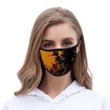 Halloween Tie Dye masque facial anti-poussière tissu de soie de glace imprimé à la mode lavable