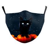 Halloween nouveau masque de protection d'impression numérique 3D adulte de conception personnalisée peut mettre un masque de visage adulte de filtre PM2.5