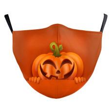 MOQ50 Halloween Nuevo diseño personalizado máscara protectora de impresión digital 3D para adultos puede poner máscara facial para adultos con filtro PM2.5