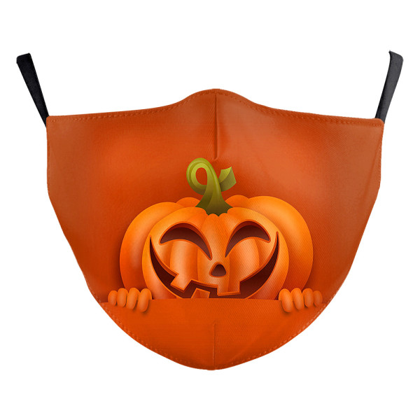 Halloween New customized design adult 3D digital printing protective mask can put PM2.5 filter adult  face mask