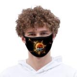 Хэллоуин галстук краситель маска для лица пылезащитный модный принтованный ледяной шелк ткань моющаяся