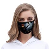 Halloween Tie dye face mask dustproof fashionable printed ice silk fabric washable