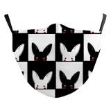 MOQ50 Neue benutzerdefinierte Design-3D-Digitaldruck-Modemaske für Erwachsene kann PM2.5-Filter für Erwachsenen-Gesichtsmasken einsetzen