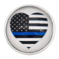 20MM Bandera azul broche de cristal KC2248