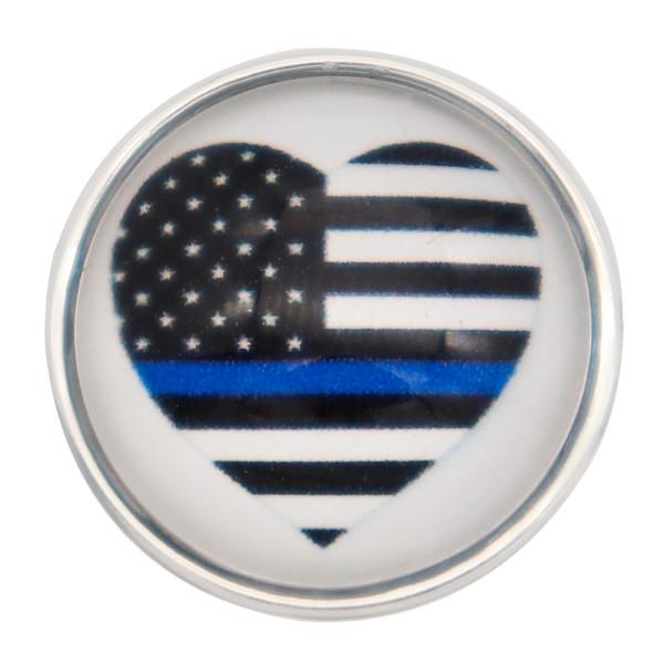 20MM Blue flag snaps glass  KC2248