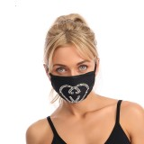 Dust proof fashionable color diamond cotton cloth with rhinestone face mask