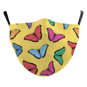 La nueva máscara protectora de impresión digital 3D para adultos con diseño personalizado de mariposa puede poner máscara facial para adultos con filtro PM2.5