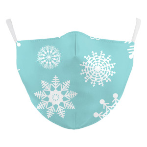MOQ50 Navidad Nuevo diseño personalizado máscara protectora de impresión digital 3D para adultos puede poner máscara facial para adultos con filtro PM2.5
