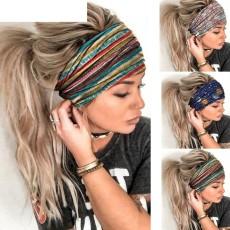 Mesh lace headband fashion embroidery elastic headband hair band bandans