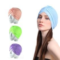 ファッショナブルなヘアキャップバンダンが付いた女性用洗顔バンド