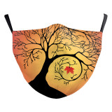 Adult Tree of life New customized design 3D digital printing protective mask can put PM2.5 filter adult  face mask
