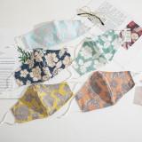Cotton dust-proof mask cloth mask printing folding ear rope adjustable anti haze sunscreen stereo mask