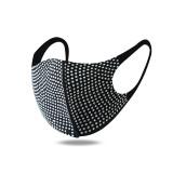 Rhinestone personalized decorative mask fashionable colorful hot rhinestone mask dust and sun protection fashionable face mask