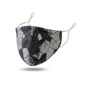 Sequin double-layer cloth mask fashionable dust-proof, sunscreen and UV proof face mask